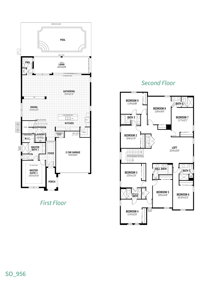 Floor Plan for Florida Shores | Must See - One of the Best Homes in Solara Resort
