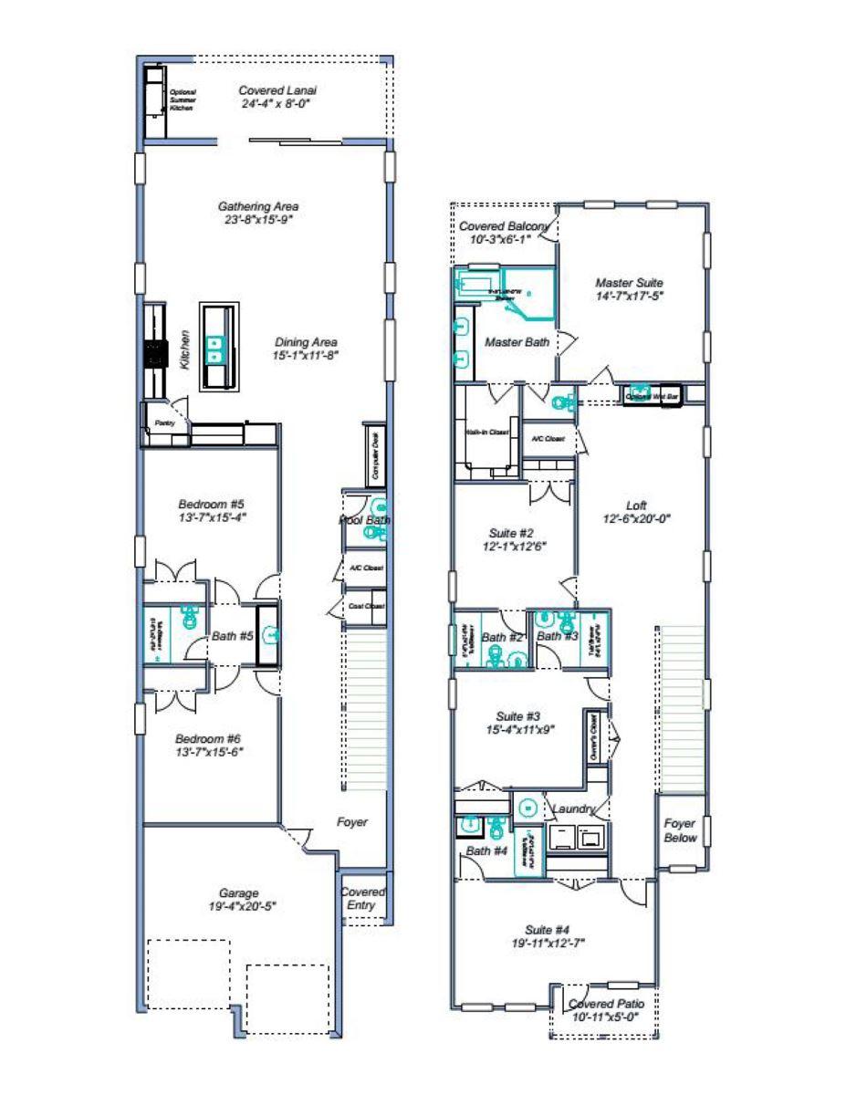 Floor Plan for Fairway Elegance - 6 Bedroom, Themed Games Room, Private Pool Home in Reunion Resort