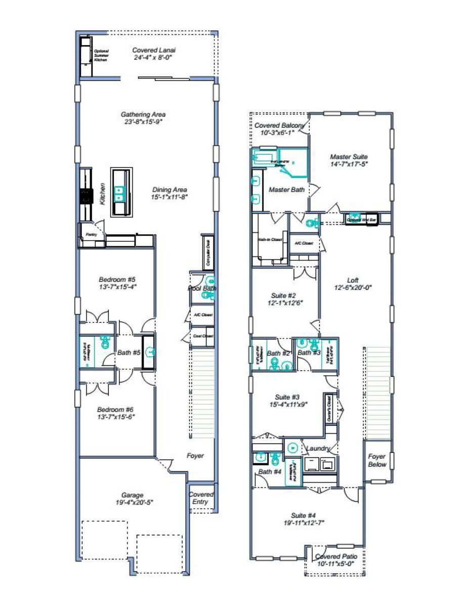 Floor Plan for Villa Fresco | 6 Bed Villa with Game Room, Private Pool, and Luxury Furnishings