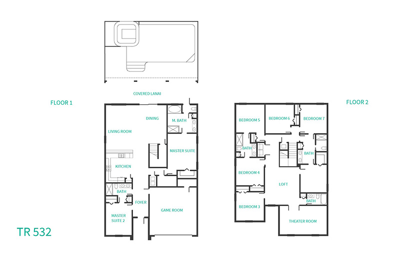 Floor Plan for Oasis Elegance